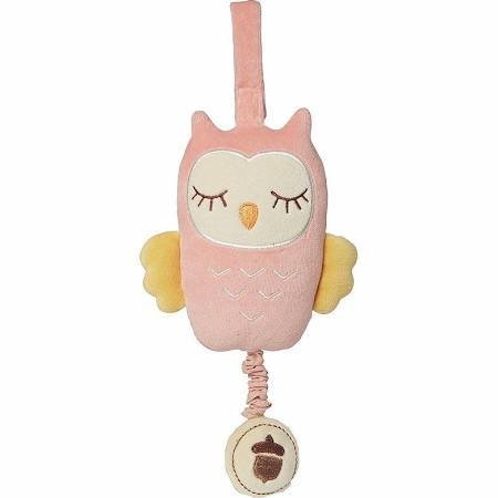 My Natural My Natural Musical Owl Pull Toy, Pink