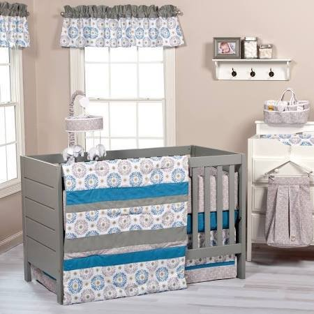 Trend Lab Monaco 3 Piece Crib Bedding Set, Multi-Colored