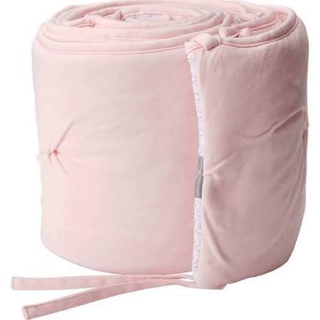 Living Textiles Baby Jersey Pintuck Crib - Pink/Koko Rose