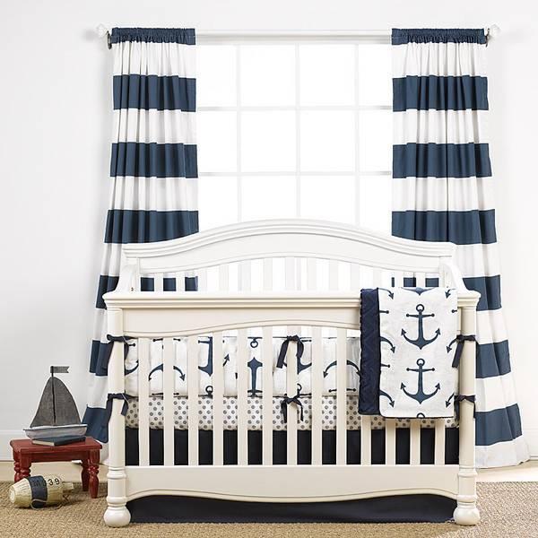Liz and Roo Cabana Stripe Curtains - Navy