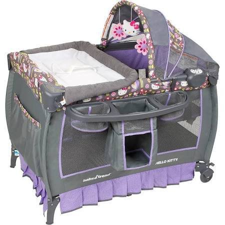 Baby Trend Deluxe Nursery Center Hello Kitty Pin Wheel Playard Crib
