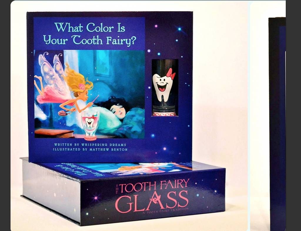Girl's Tooth Fairy Glass Box Set