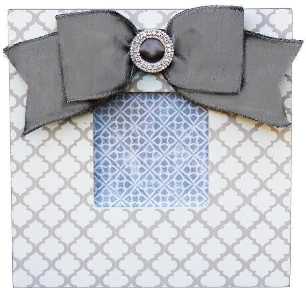 Gray Trellis Embellished Frame 835-GRE