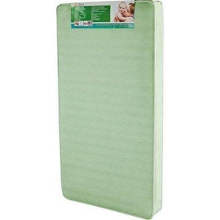 Dream On Me 6 inch 112 Coil Spring Crib and Toddler Bed Mattress, Green