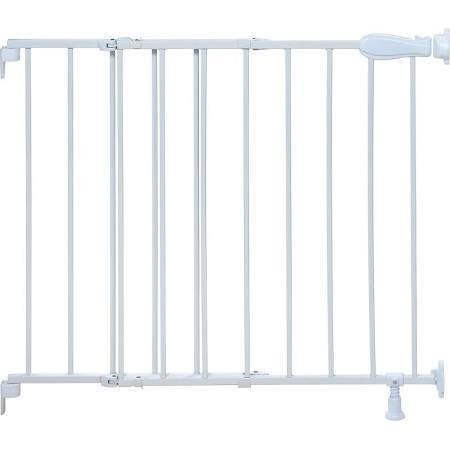 Summer SUMMER INFANT SLIDE & LOCK, TOP OF STAIRS METAL GATE WHITE