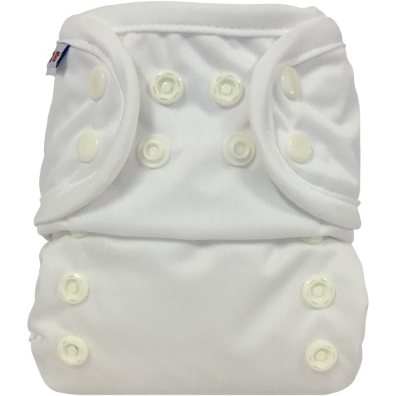Bummis All-in-one One Size Diaper White