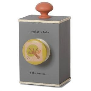 """Rockabye Baby"" (grey) wind-up music box"