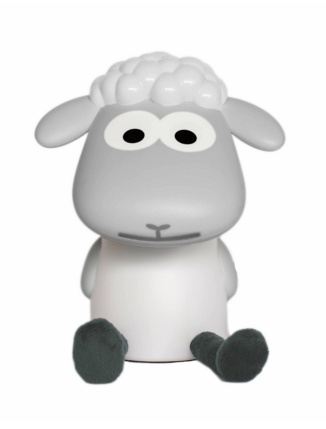 Zazu ZAZU Fin the Sheep Night Light - Grey