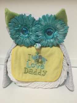 Vika's Creations Owl Diaper Cake