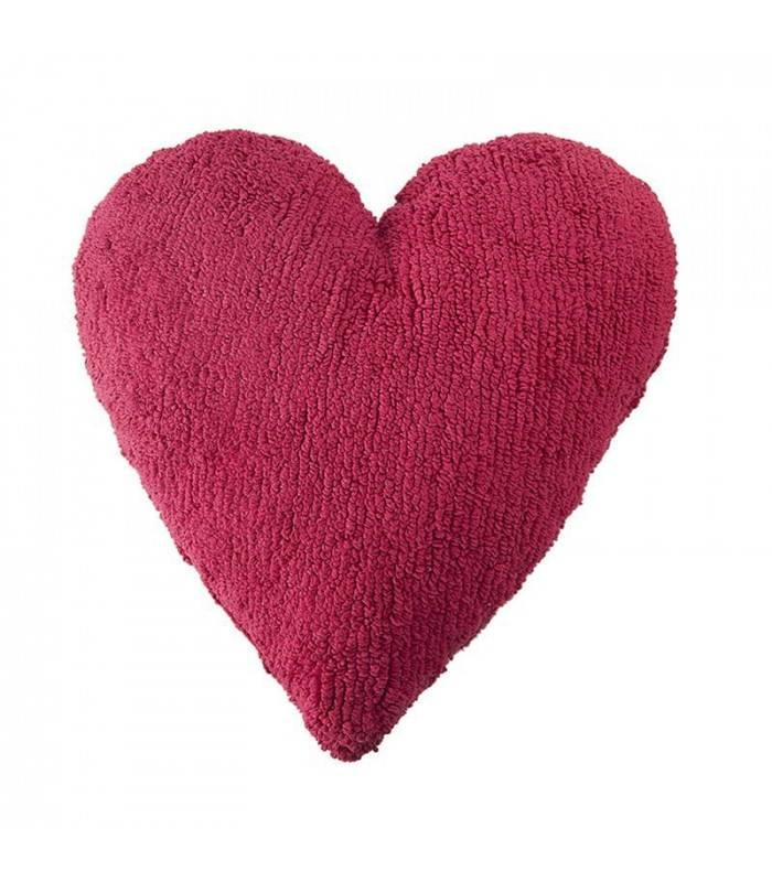 Lorena Canals USA, Inc Lorena Canals Pillow, Heart Fuchsia