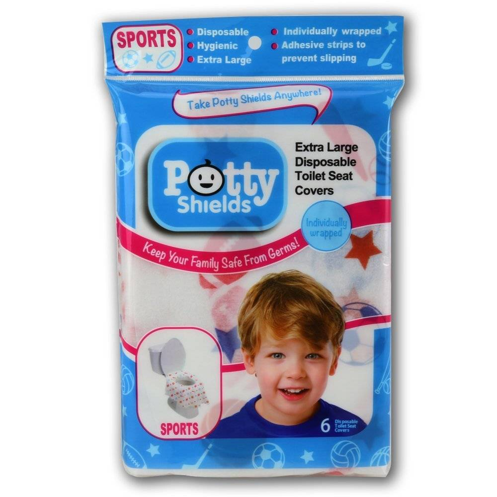 Potty Shields Disposable Toilet Seat Shields/Sport