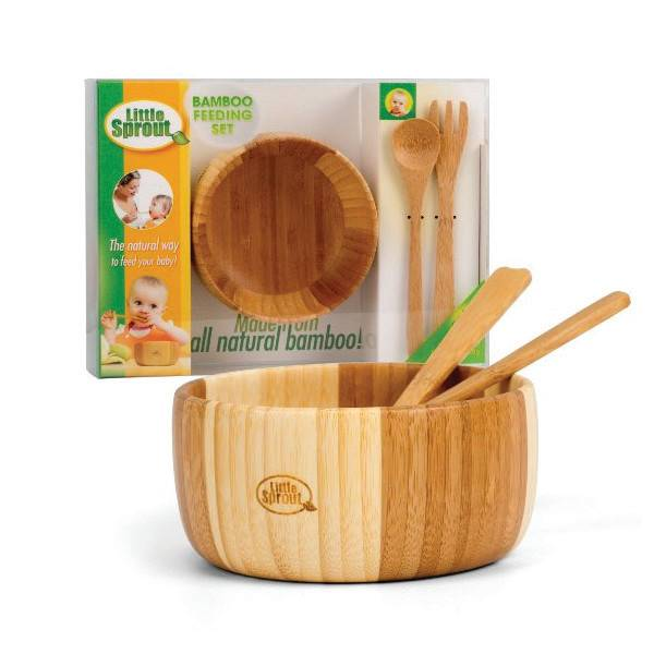 Little Sprout 3-piece Bamboo Feeding Set