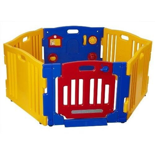 Dream on Me Baby Town Play Yard, Yellow/Blue