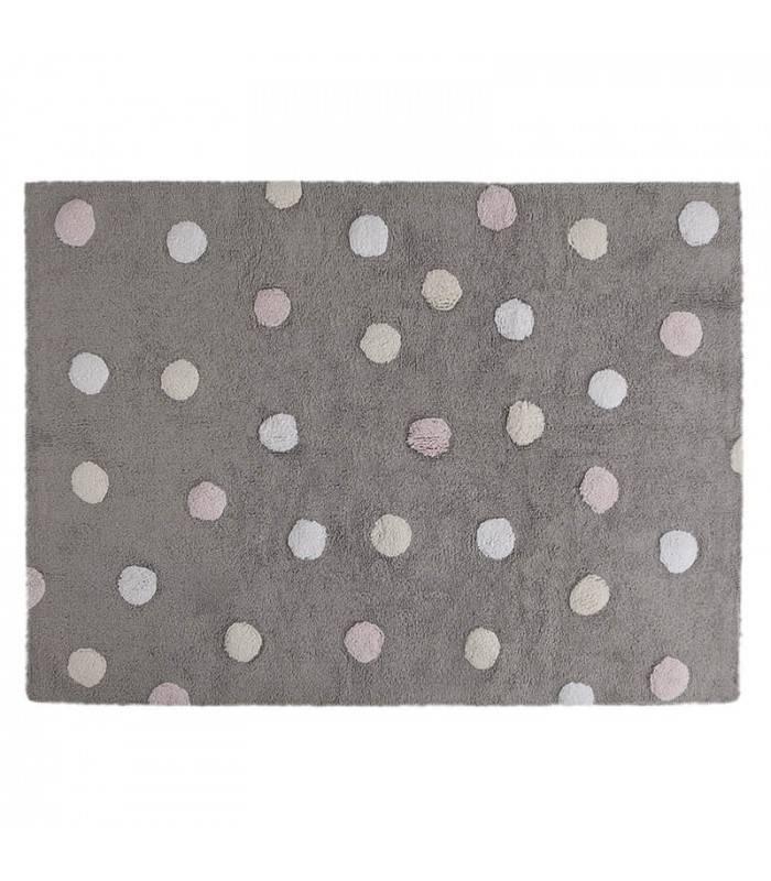 Lorena Canals USA, Inc Rug Polka Dots/Topos Tricolor Grey - Pink