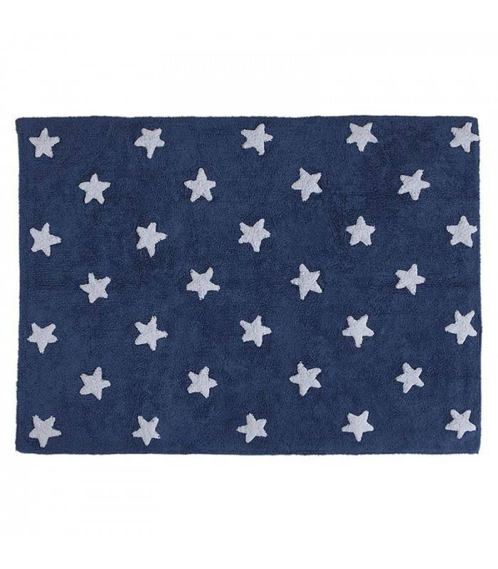 Lorena Canals USA, Inc Lorena Canals Navy Stars White Rug