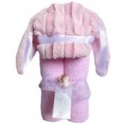 Swankie Blankie Pink Bunny Hooded Towel