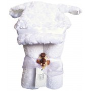 Swankie Blankie White Lamb Hooded Towel