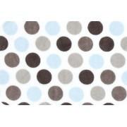 Swankie Blankie blue mod dot minky w/ blue satin lining sleeping bag