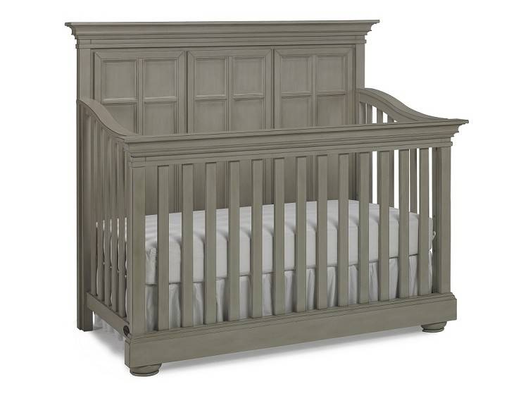 Bivona Dolce Babi Serena Full Panel Convertible Crib - Saddle Grey