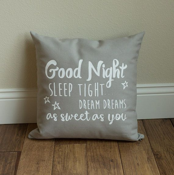 Harmony House Good Night Pillow - Grey