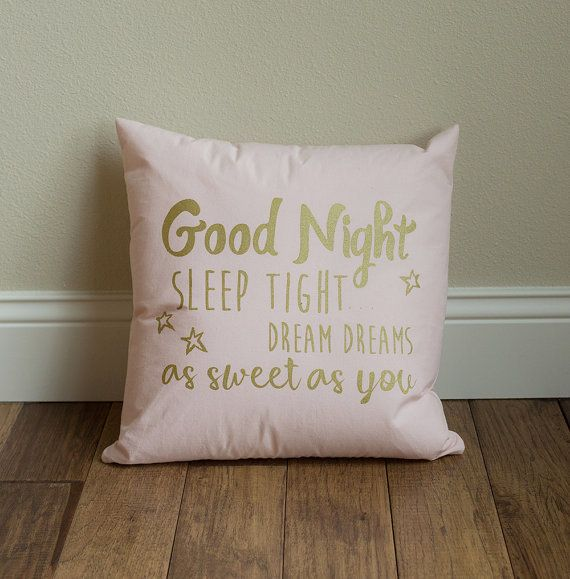 Harmony House Good Night Pillow - Pink