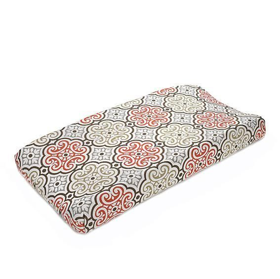 Liz and Roo Changing Pad Cover - Garden Gate