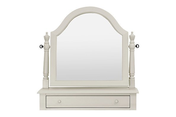 MDB Million Dollar Baby Arcadia Sullivan Vanity Mirror - Dove (White/Grey)