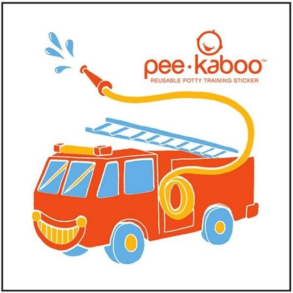 Pee*Kaboo FireTruck Sticker