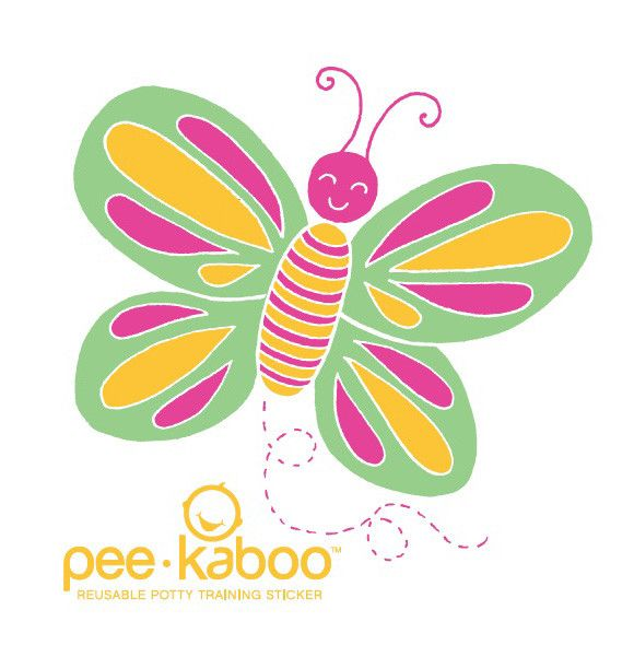 Pee*Kaboo Butterfly Sticker