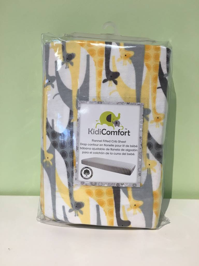 KidiComfort Flannel Fitted Sheet Giraffe