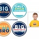 Sticky Bellies Sticky Bellies Big Brother Stickers 4-pack