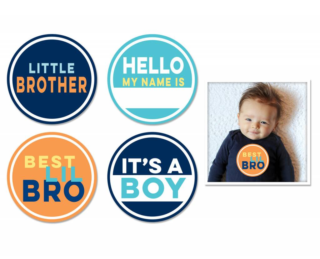 Sticky Bellies Sticky Bellies Little Brother Stickers 4-pack