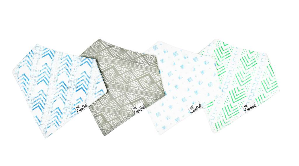 Copper Pearl Copper Pearl 4-Pack Bandana Bibs - Jude
