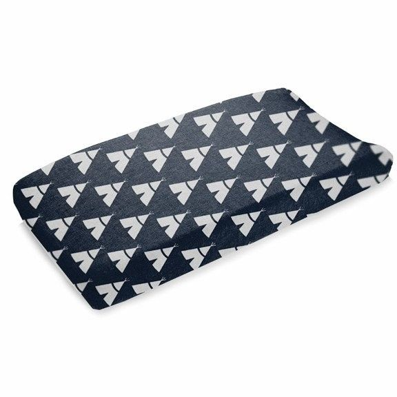 Liz and Roo Navy Teepee Changing Pad Cover