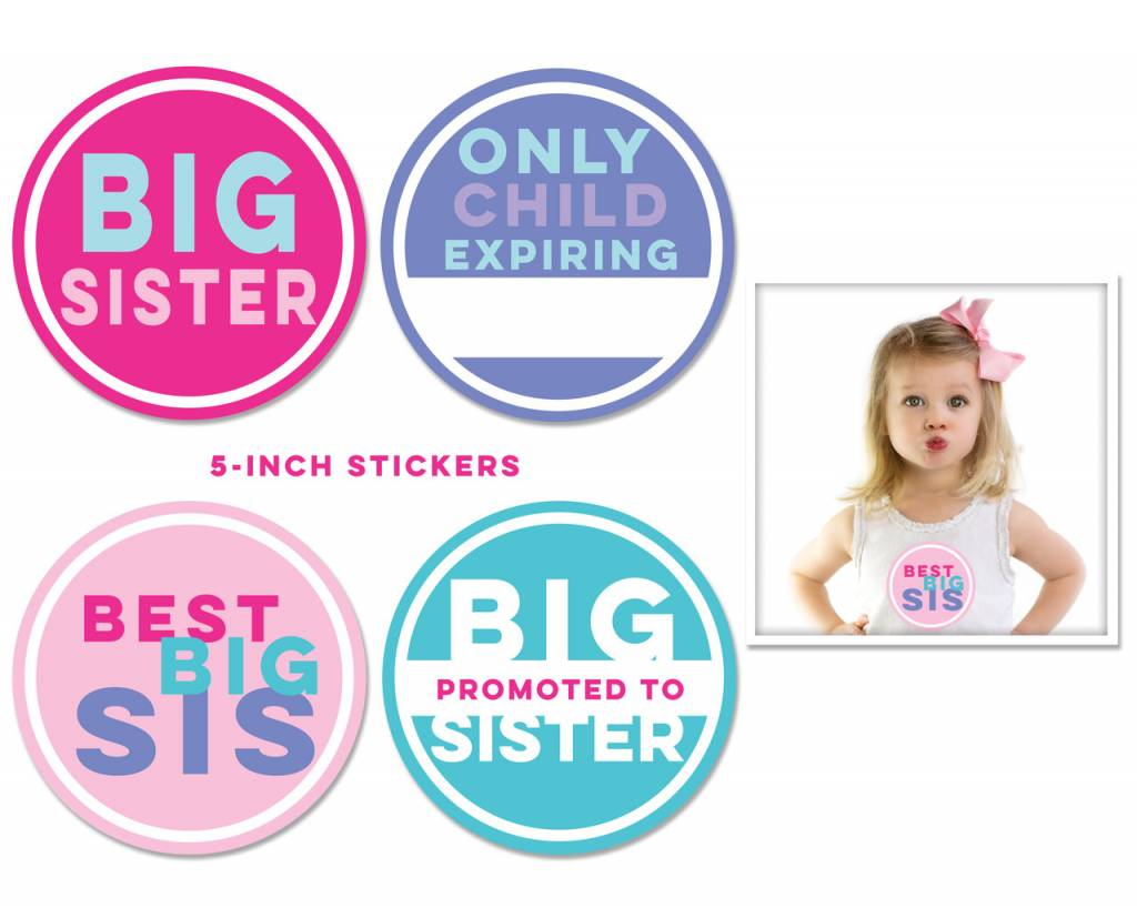 Sticky Bellies Sticky Bellies Big Sister Stickers 4-pack