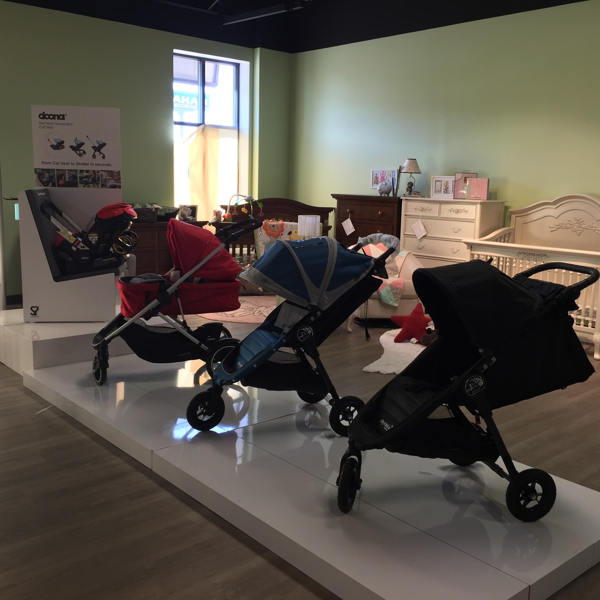Tiny Toes Showroom Stroller Selection
