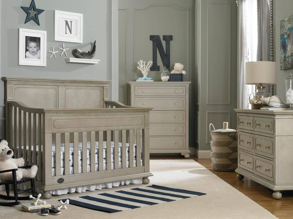 Bivona Dolce Babi Naples Full Panel Convertible Crib - Grey Satin