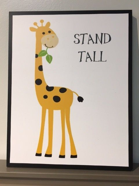 Hutterite Colony Locally-Made Hutterite Wall Art - Giraffe
