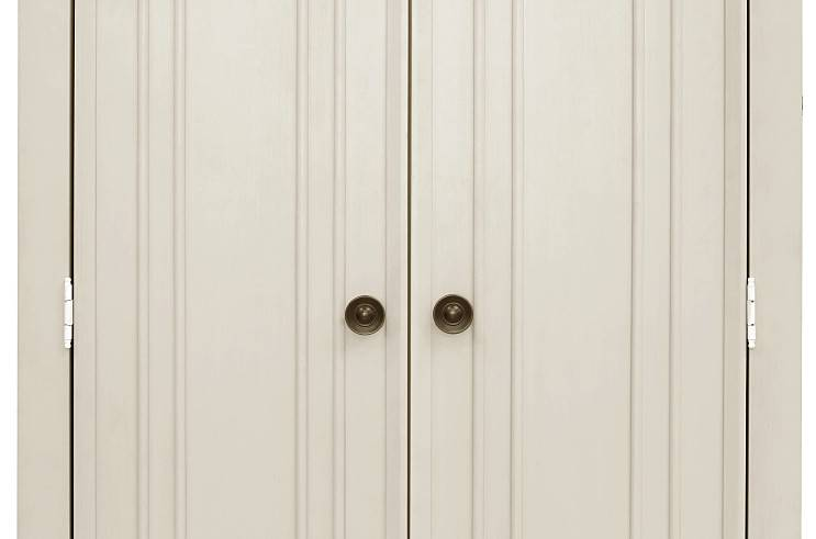 MDB Franklin & Ben Nelson Armoire - Distressed White