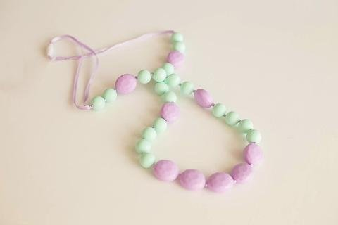 Little Teether Little Teether Glam Teething Necklace - Mint & Lilac