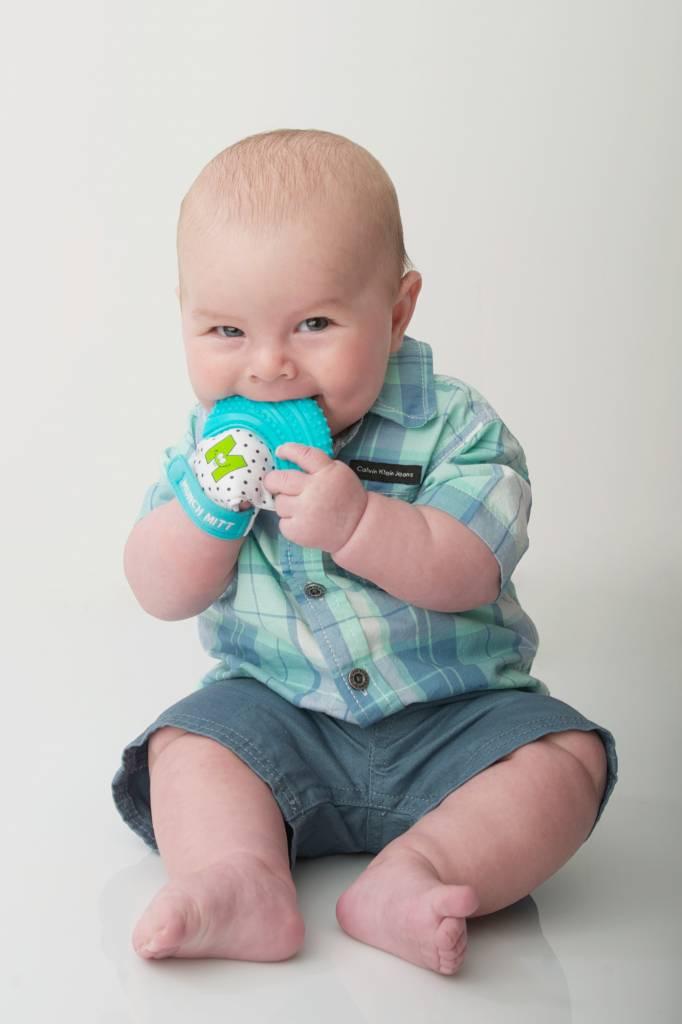 Munch Baby Inc. Munch Mitt - Aqua Blue