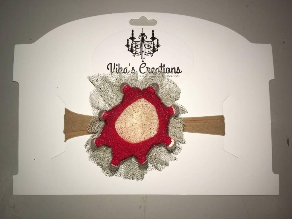 Vika's Creations Red Crown Headband