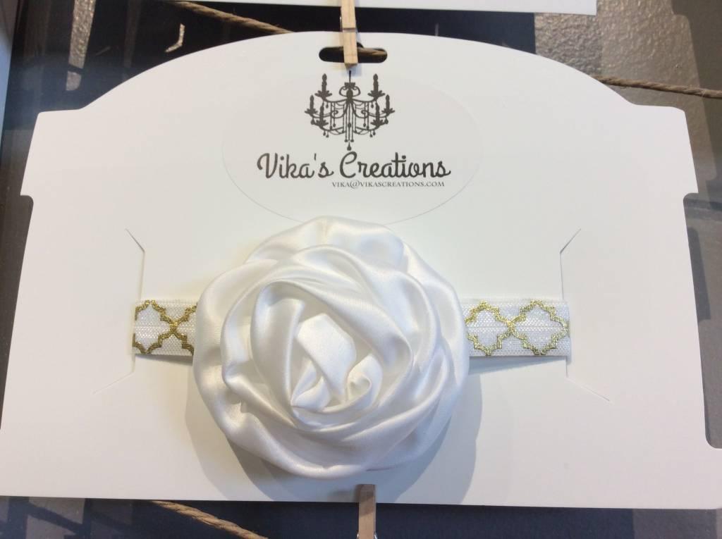 Vika's Creations Vika's Creation -White Bedazzled Bow