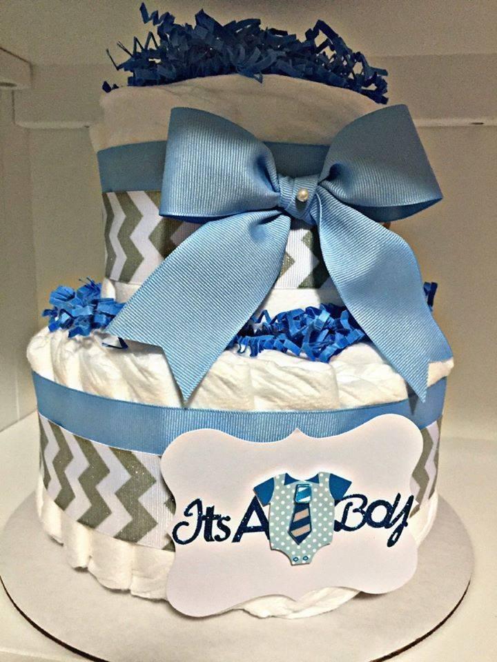 Vika's Creations Blue Diaper Cake
