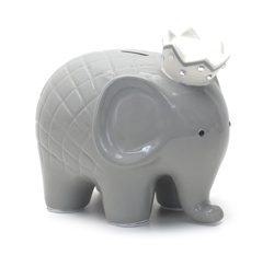 Child to Cherish Child to Cherish Coco Elephant Piggy Bank - Grey