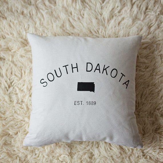 Harmony House South Dakota Pillow - Grey