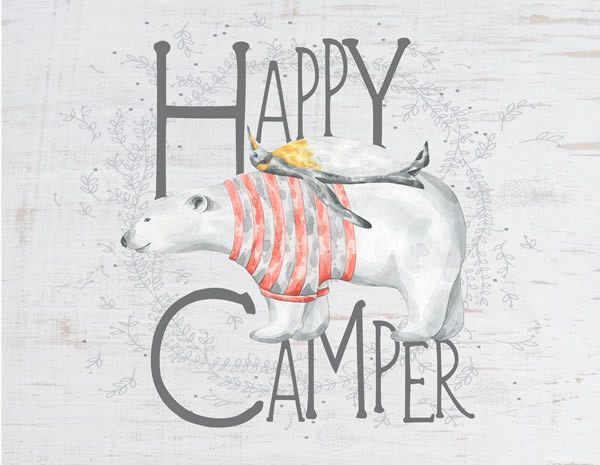 Jada Venia Jada Venia Happy Camper Lamp - Polar Bear