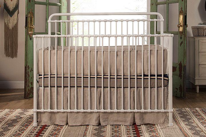 MDB Franklin & Ben Winston 4 in 1 Convertible Crib - White Iron