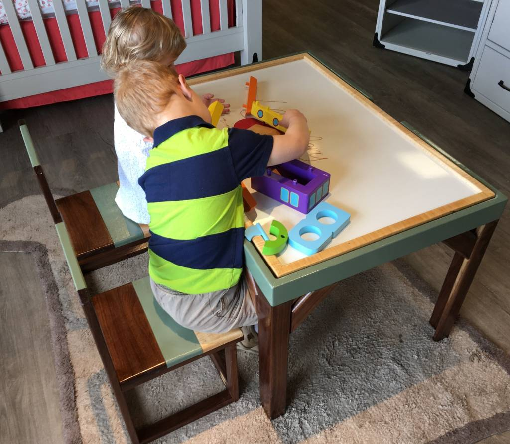 Legendary Timber Multi-use Handcrafted Kids Table and Chairs