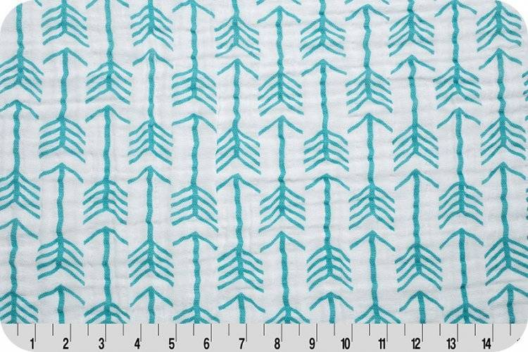 Hilltop Baby and More Swaddle Blanket - Large Mint Arrows